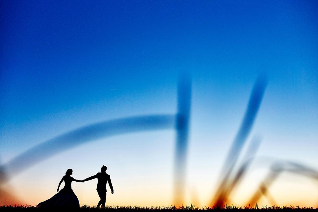 mariés qui marchent
